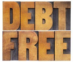 Large Debt Free text.